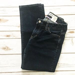 🔴 GAP Pencil cut Cropped Jeans stretch dark wash